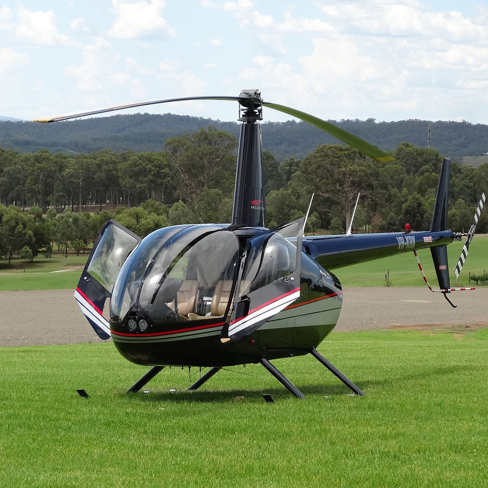 Image of blue sky airways helicopter - Hunter Valley private tour