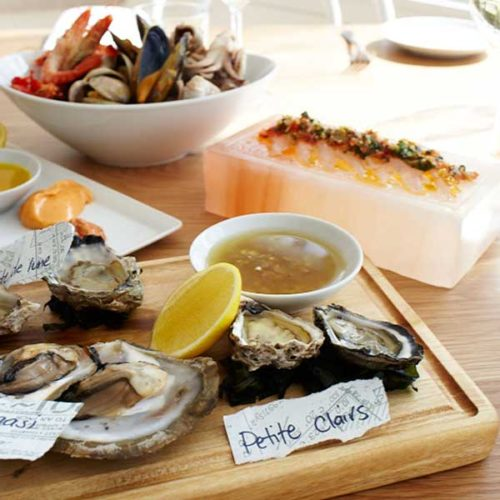 An image of lunch at Wharf Road the South Coast Private Tour