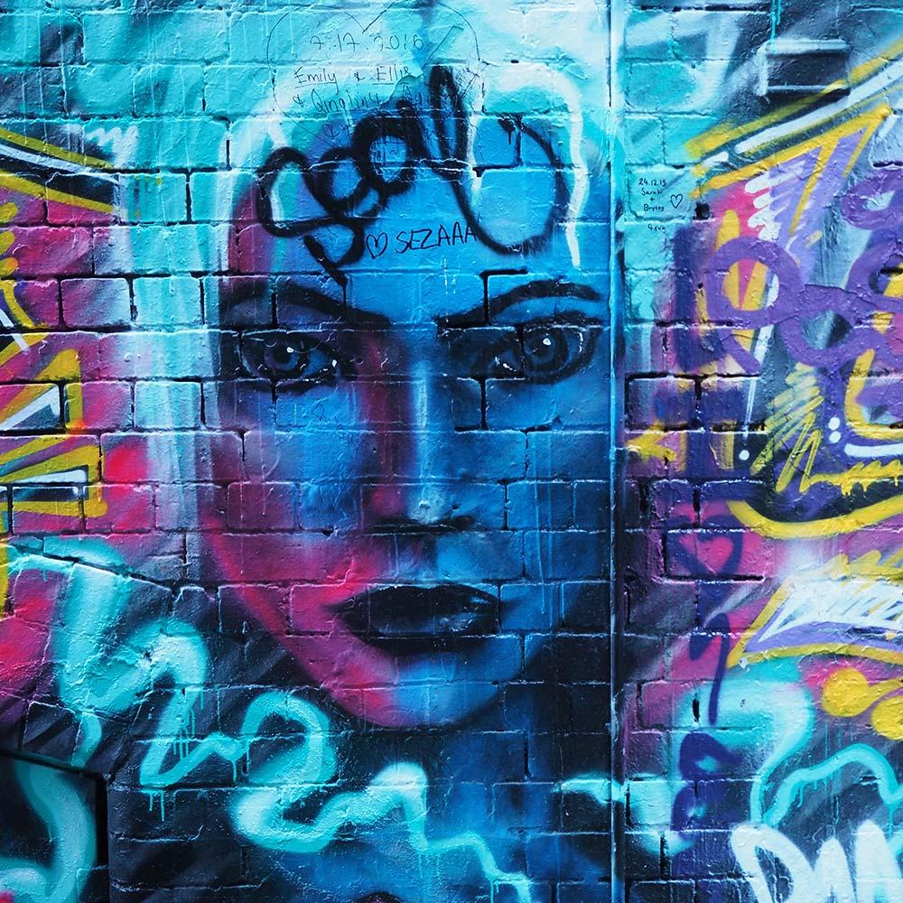 An image of urban graffiti on your Sydney Underground tour