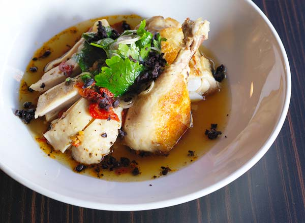 An image of poached chicken at Bistro Rex in Potts Point on your foodie Taste of Sydney private tour