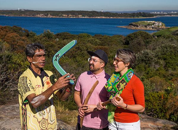 An image of aboriginal elder during your private Sydney authentic Aboriginal Tour